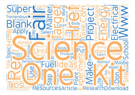 Science Fair text background word cloud concept