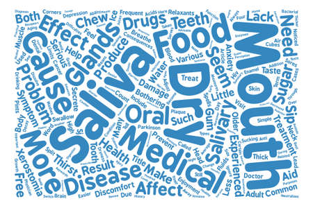 word of mouth: dry mouth text background word cloud concept