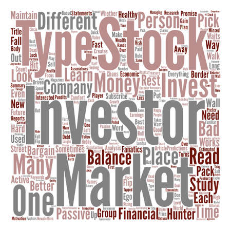 Types Of Stock Market Investors Word Cloud Concept Text Background