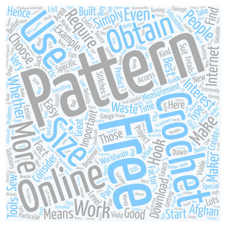 free online crochet patterns text background wordcloud concept