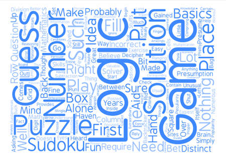 popularity: Sudoku logic Word Cloud Concept Text Background
