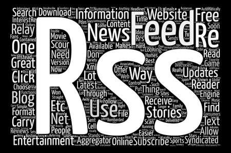 JP entertainment RSS Word Cloud Concept Text Background Illustration