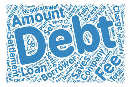 How To Select A Debt Settlement Company Word Cloud Concept Text Background Illustration