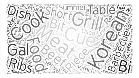 Korean cue Word Cloud Concept Text Background