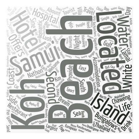 samui: SAMUI ISLAND text background word cloud concept