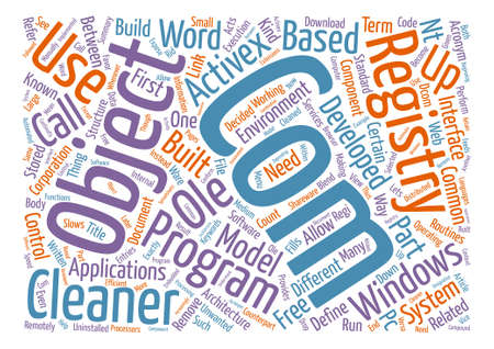 What Is Com And How It s Related To Registry Cleaner Word Cloud Concept Text Background