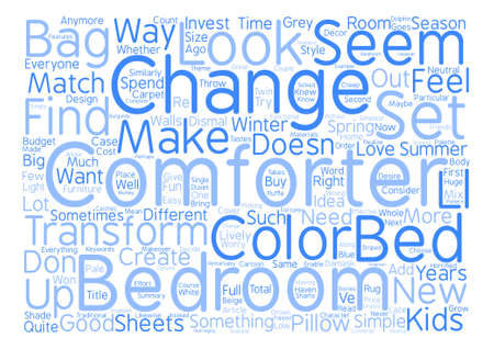 What Is the Simplest Way to Transform Your Bedroom Word Cloud Concept Text Background Ilustração