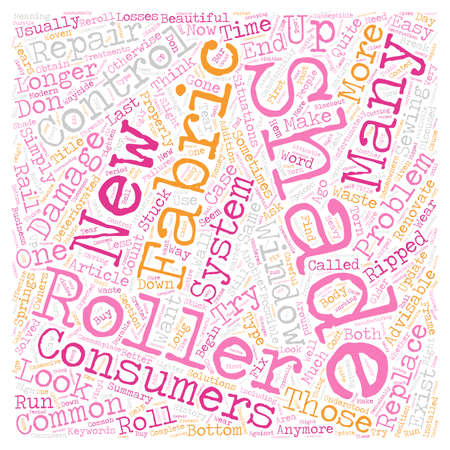 Roller Shade Problems text background wordcloud concept 向量圖像