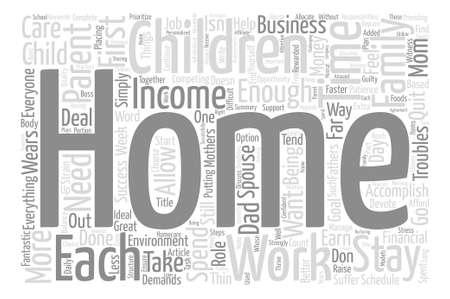 Quiero ser una estancia en casa mamá o papá fondo de texto palabra concepto de nube