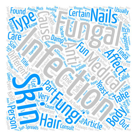 When Fungi takes the Fun Away text background word cloud concept Ilustrace
