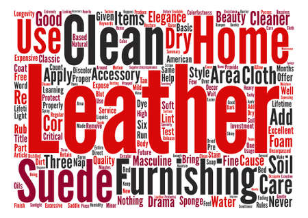 cor: Leather Home Furnishings How to Clean and Care for Them text background word cloud concept