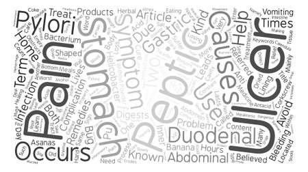 duodenal: Learn About Peptic Ulcer Word Cloud Concept Text Background Illustration