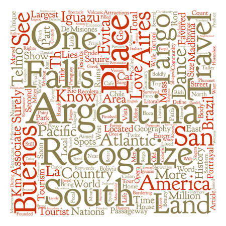 Travel Argentina  Text Background Illustration