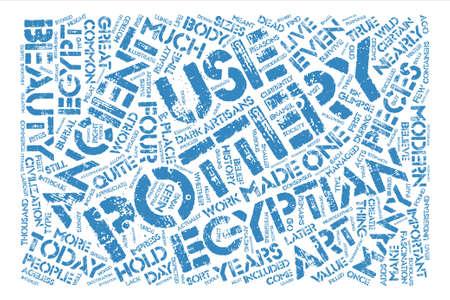 fascinação: Egípcio, cerâmica, envelhecido, beleza, texto, fundo, palavra, nuvem, conceito