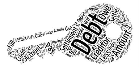 What Is Debt Settlement text background word cloud concept Illustration