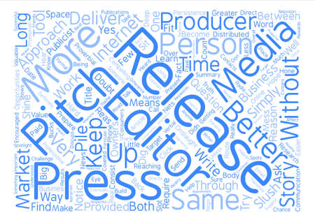 onslaught: To Pitch Or Release text background word cloud concept