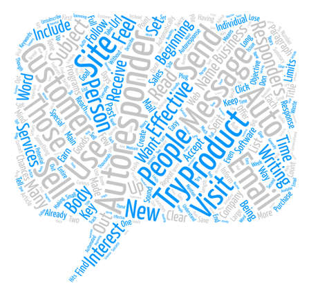 responders: How To Create Email Autoresponders That Sells text background word cloud concept