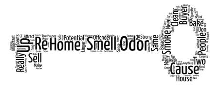 townhouses: Odors Can Make or Break The Sale of Your Home Word Cloud Concept Text Background