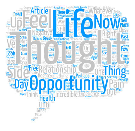 happier: The Great Opportunity text background word cloud concept
