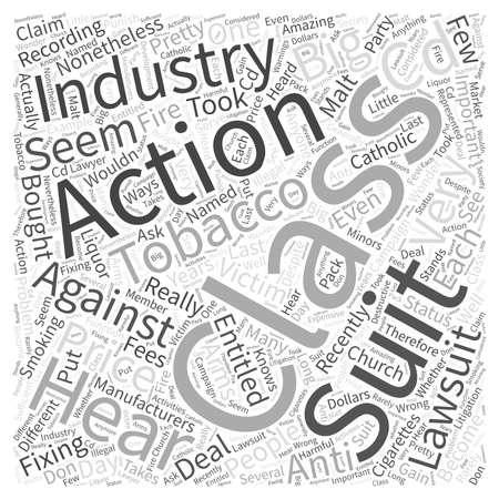 lawsuits: class action suits Word Cloud Concept