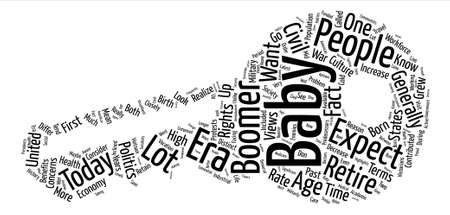 Wants of baby boomers text background word cloud concept Illustration