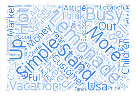 Simple Business Tactics Are Your Key To Success text background word cloud concept Illustration