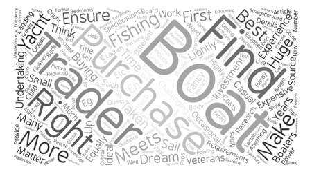 How Do You Find Your Dream Boat text background word cloud concept