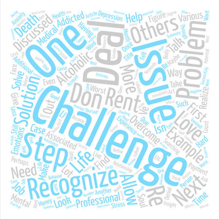 maybe: How To Successfully Overcome Life s Challenges text background word cloud concept Illustration