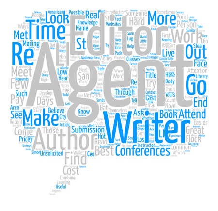 unsolicited: Low Cost Ways To Meet Agents Editors text background word cloud concept