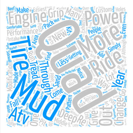 braver: ways to beef up your atv Word Cloud Concept Text Background