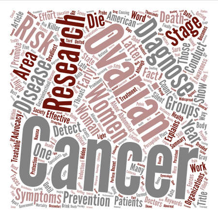 researches: Ovarian Cancer Research Word Cloud Concept Text Background