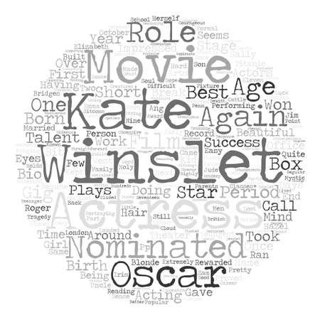 Kate Winslet text background word cloud concept