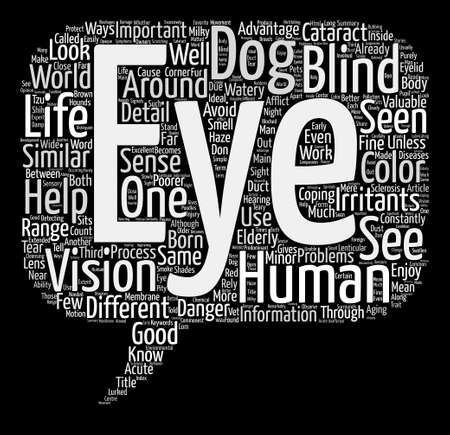 Through Your Dogs Eyes text background word cloud concept 向量圖像
