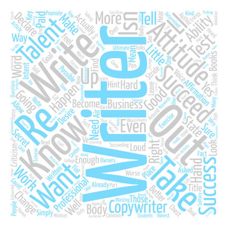 How to Succeed as a Writer text background word cloud concept Illustration