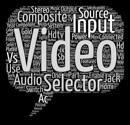hdtv av selector text background word cloud concept