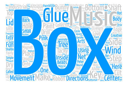 fairly: How to Make Your Own Unique Music Box Word Cloud Concept Text Background
