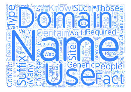 suffix: Domain Name Suffix And The Best Ways To Use It Word Cloud Concept Text Background
