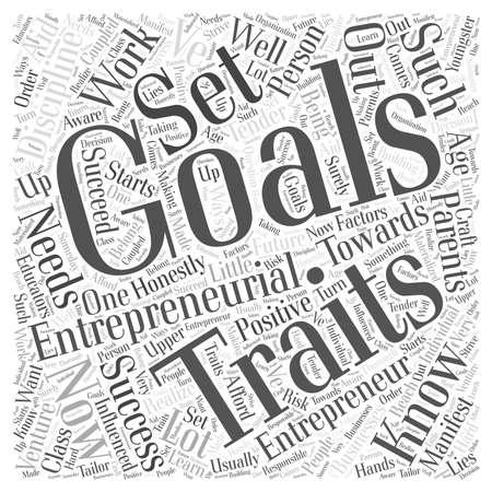 Entrepreneurial Word Cloud Konzept Standard-Bild - 73813444