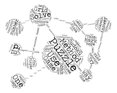 sudoku answers text background word cloud concept