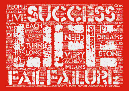 stepping: IN SUCCESS LANGUAGE FAILURE MEANS YOU ARE ALMOST THERE text background word cloud concept