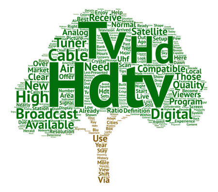Hdtv text background word cloud concept