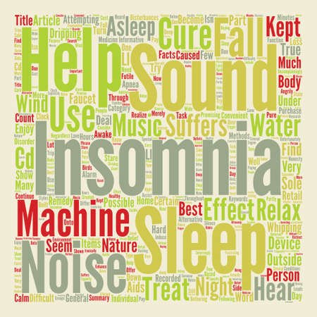 nights: Help Insomnia Part The Sound Of Insomnia Word Cloud Concept Text Background