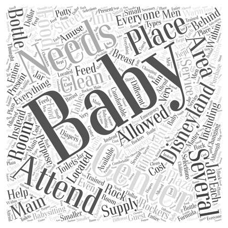 centers: disneyland baby center Word Cloud Concept Illustration