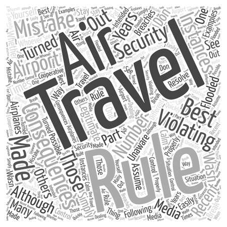 violating: Consequences for Violating Air Travel Rules Word Cloud Concept