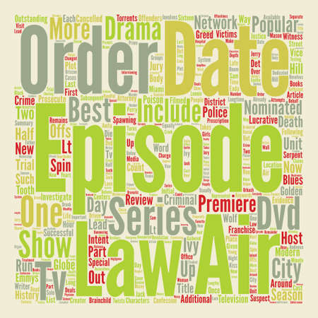 nominated: Law And Order DVD Review text background word cloud concept Illustration