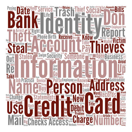 How Do You Know If Your Identity Has Been Stolen Word Cloud Concept Text Background