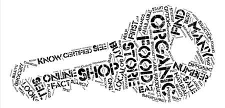 How to Buy Organic Foods text background word cloud concept