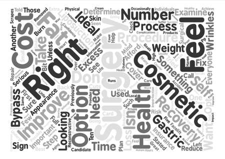 excess: Is Cosmetic Surgery Right for You text background word cloud concept