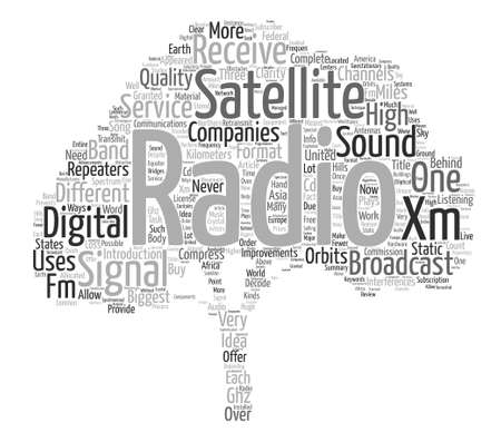 How Does Satellite Radio Work text background word cloud concept