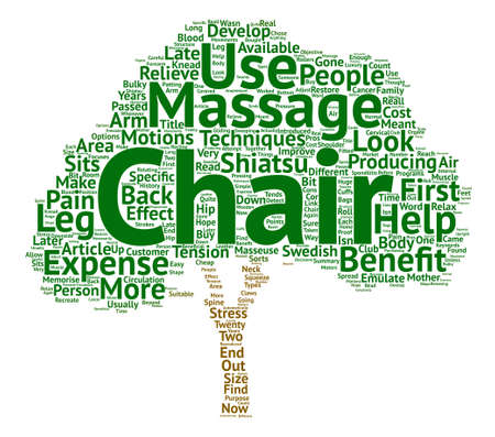 Massage Chairs Which Chair text background word cloud concept